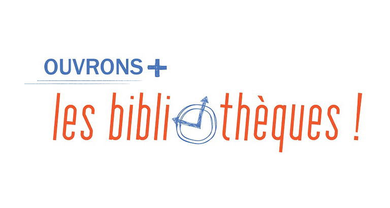 Logo de la Campagne ouvrons plus les bibliothèques