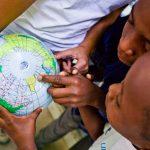 Enfants àla bibliotheque - Haiti