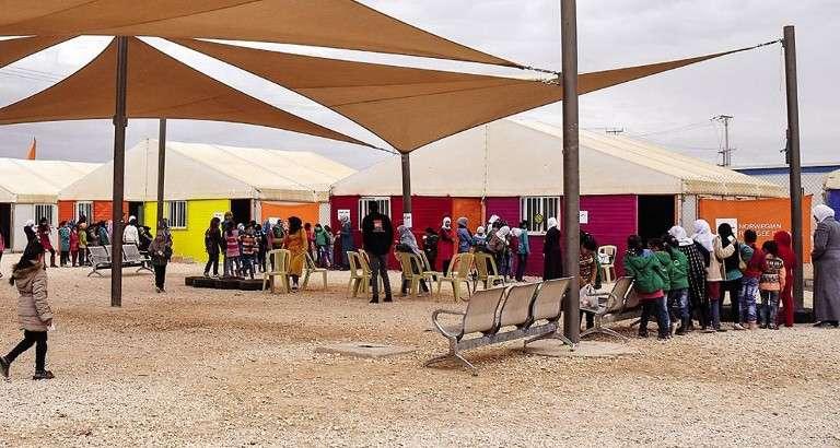 Photo d'enfants réfugiés dans le camp de Zaatari en Jordanie