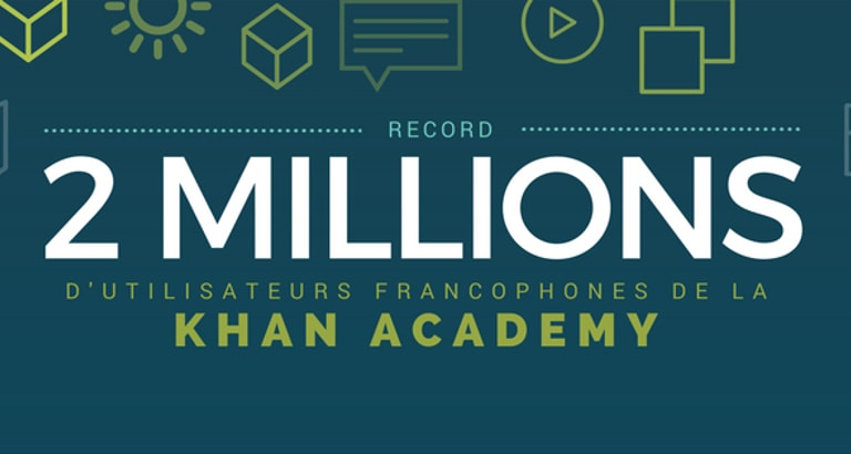 Visuel 2 millions d'utilisateurs de la Khan Academy francophone