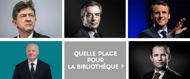 Photo de Mélenchon, Macron, Fillon, Hamon et Asselineau