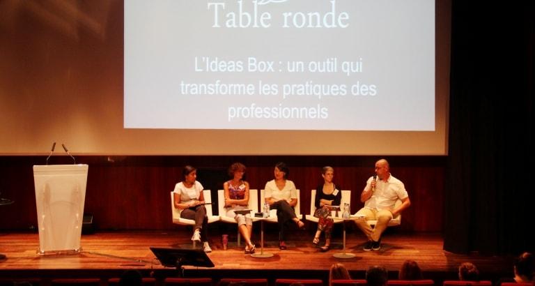 Photo d'une table ronde lors de la deuxième journée d'étude Ideas Box France à la BNF