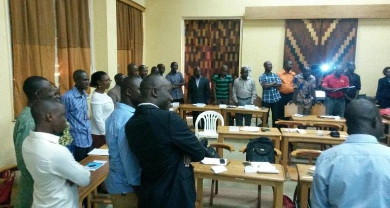 Photo d'animateurs suivant la formation KoomBook en République Centrafricaine