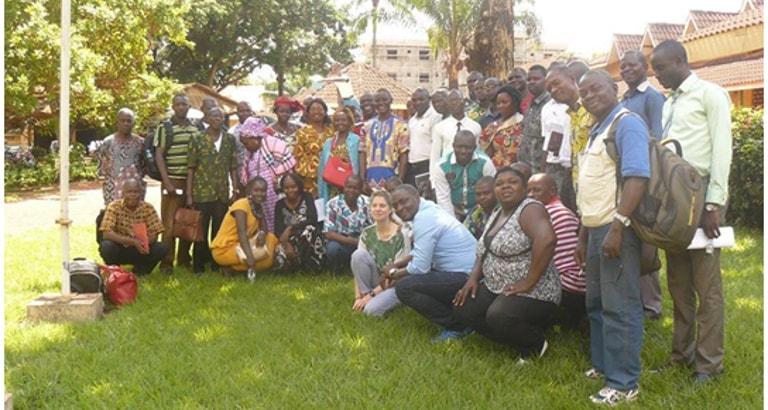Les participants de la formation KoomBook à Bangui.