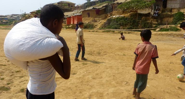 Rohingya dans le camp