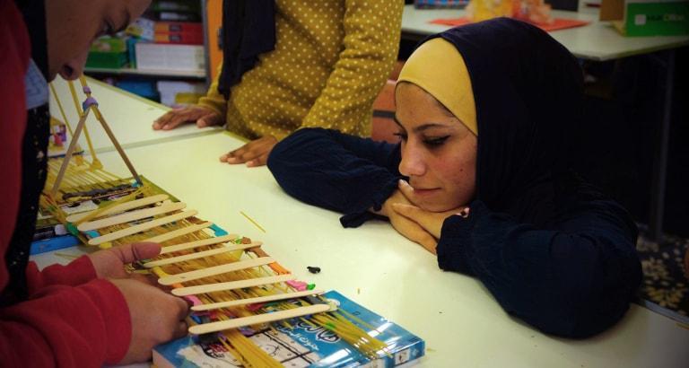 Photo d'une jeune jordanienne dans l'Ideas Box
