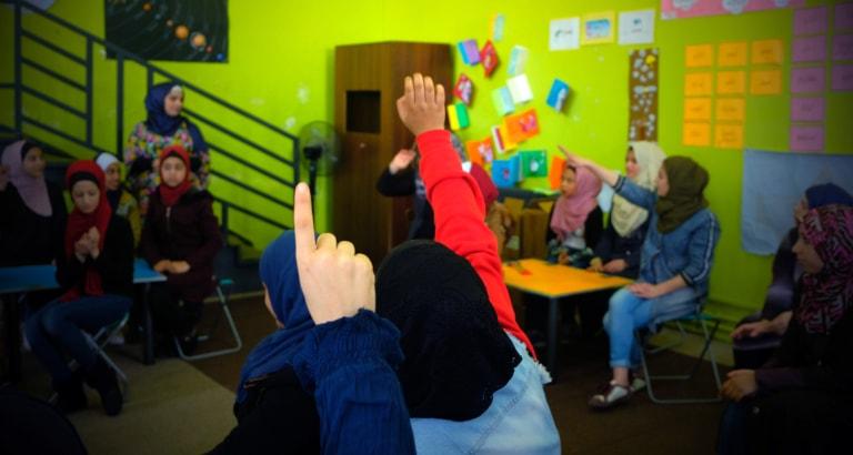 Photo d'un atelier dans le centre de JOHUD